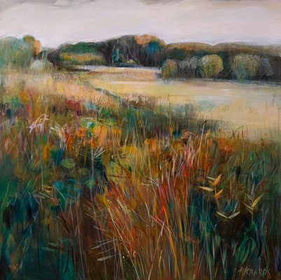 Barley Field in Mist by Lori Richards