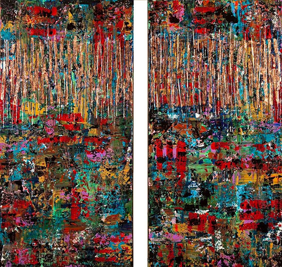 Copper Diptych by Melinda Chalmers